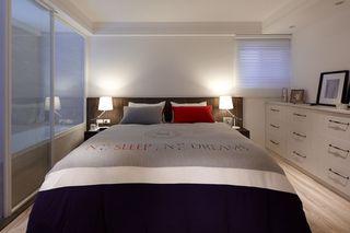 简约一居卧室床头灯设计