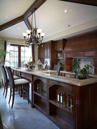 精美复古美式厨房吊灯效果图