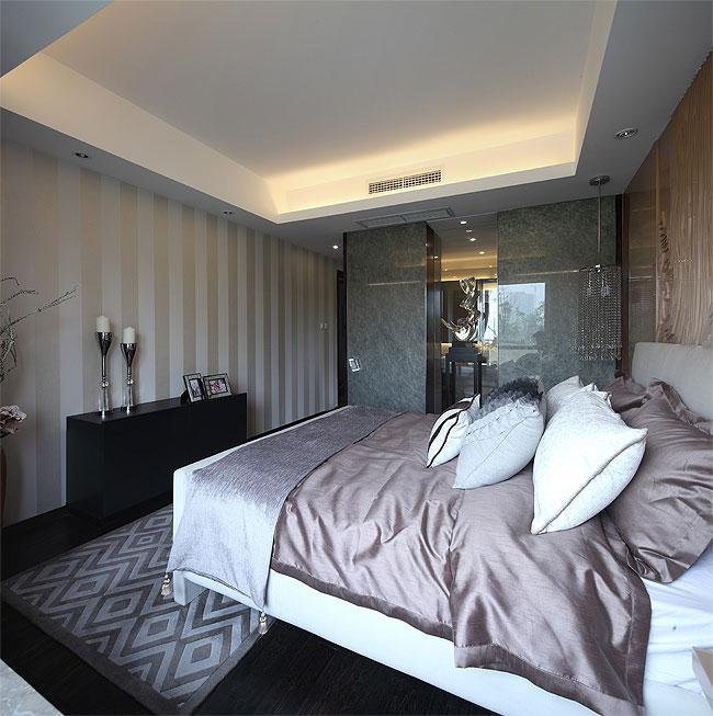 时尚潮流素雅别致现代卧室吊顶效果图