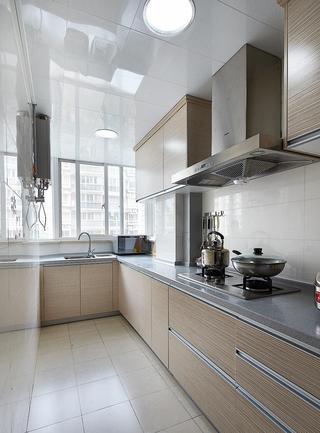 时尚淡雅现代设计厨房L型橱柜效果图