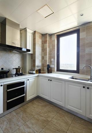 舒适浅咖色美式厨房装潢效果图