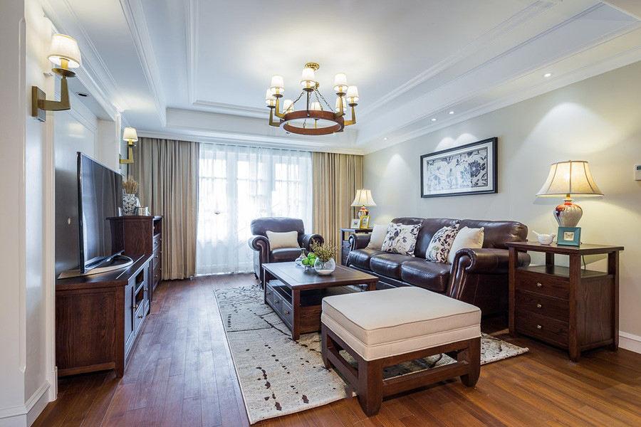 温馨复古美式客厅装潢设计大全