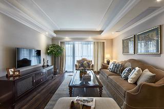 9万打造128平复古美式乡村风三居装潢设计