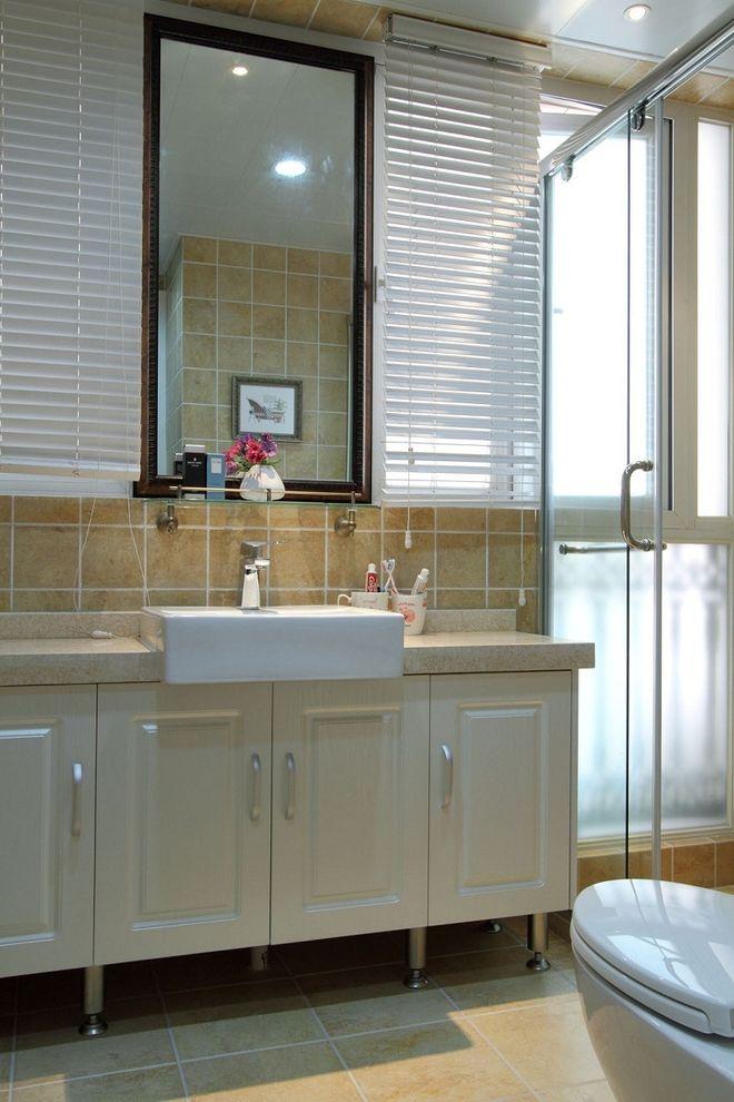 温馨美式乡村风格卫生间洗手台设计