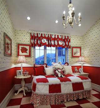 暖意红色地中海设计风格儿童房装修效果图