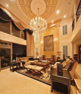 古典奢华大气欧式风格别墅挑高客厅设计装修图