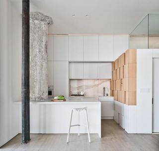 清新简约现代风格厨房吧台设计效果图