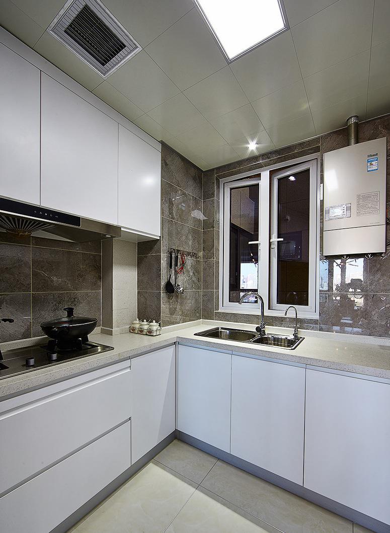 现代简约设计厨房装潢效果图