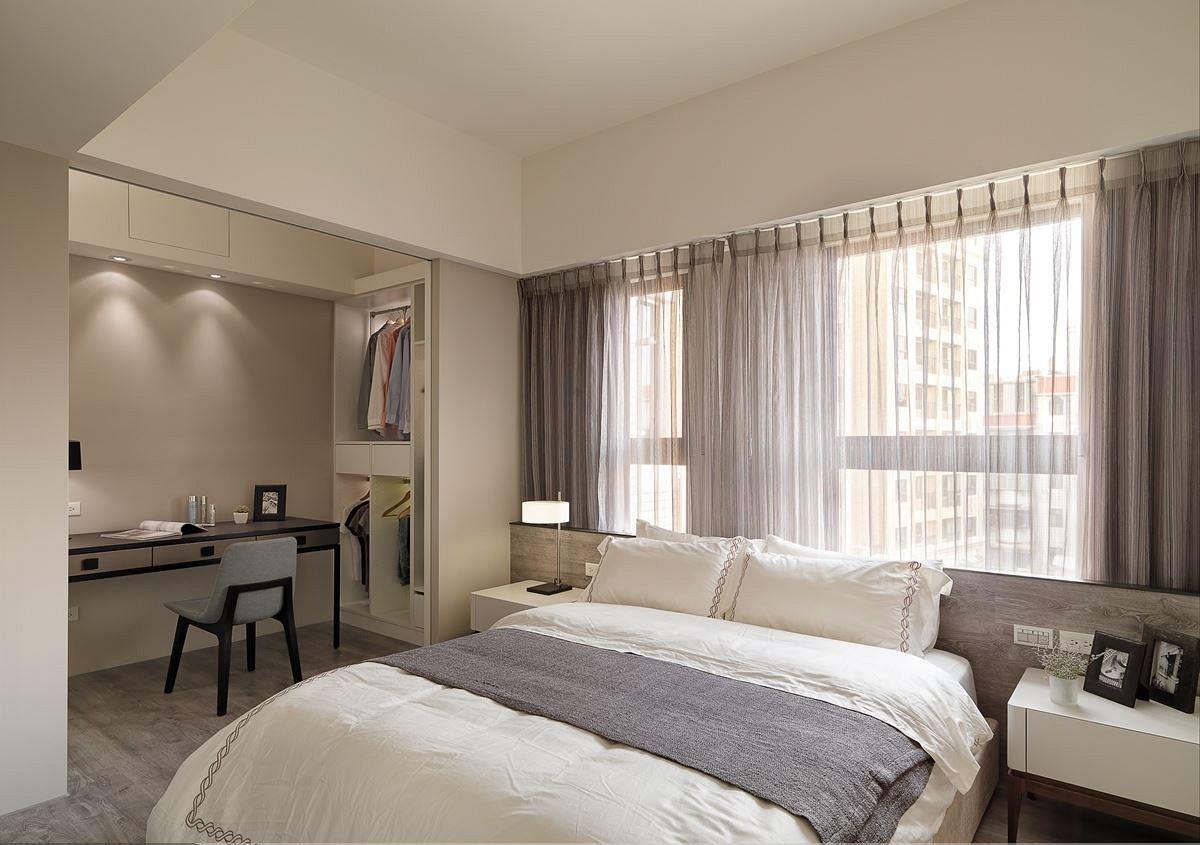 简洁实用北欧卧室隔断设计装修图