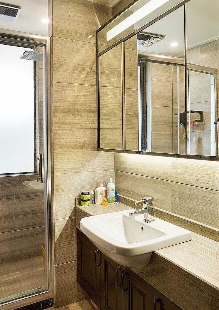 新中式装修风格卫生间设计装潢图