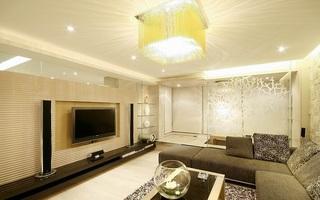 88平欧式装潢现代设计大二居装修借鉴图