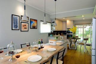 浪漫美式后现代开放式厨房餐厅吊灯效果图