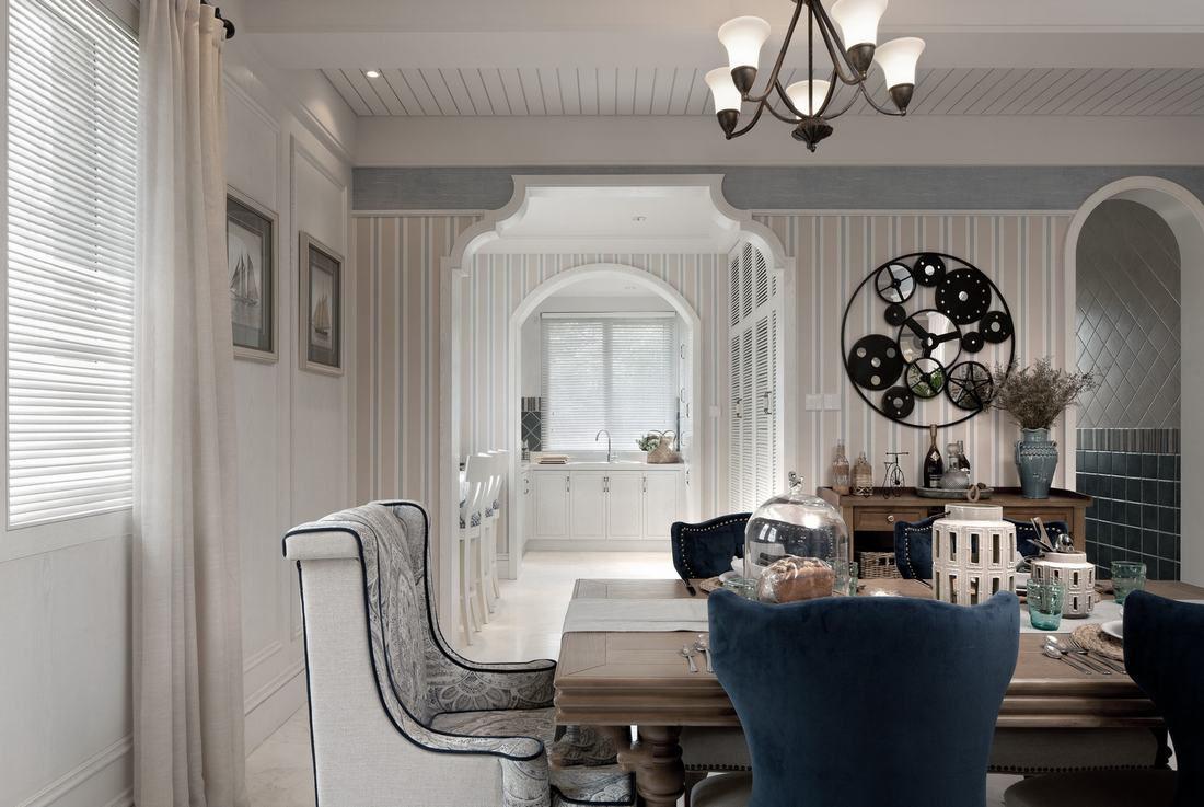 浪漫典雅地中海餐厅隔断设计