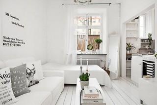 40平小户型单身公寓白色极简北欧风格每日首存送20