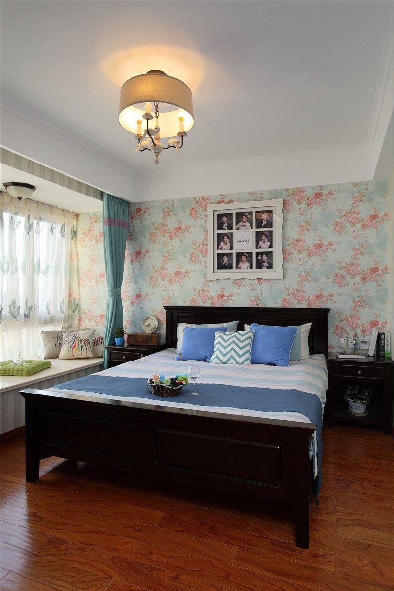 清新复古美式卧室设计装潢效果欣赏图