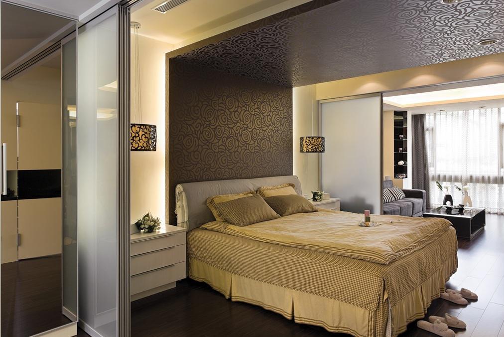 家装一居卧室简约现代设计效果图