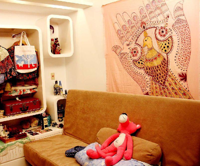 宜家现代创意设计 室内墙面收纳柜效果图