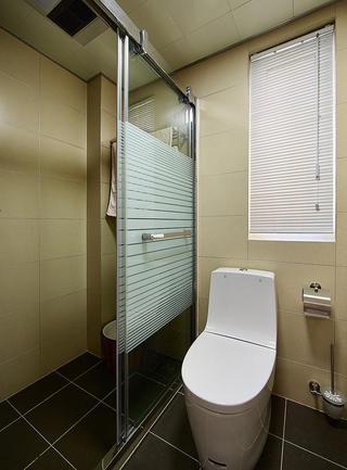 现代简约卫生间玻璃推拉门隔断设计