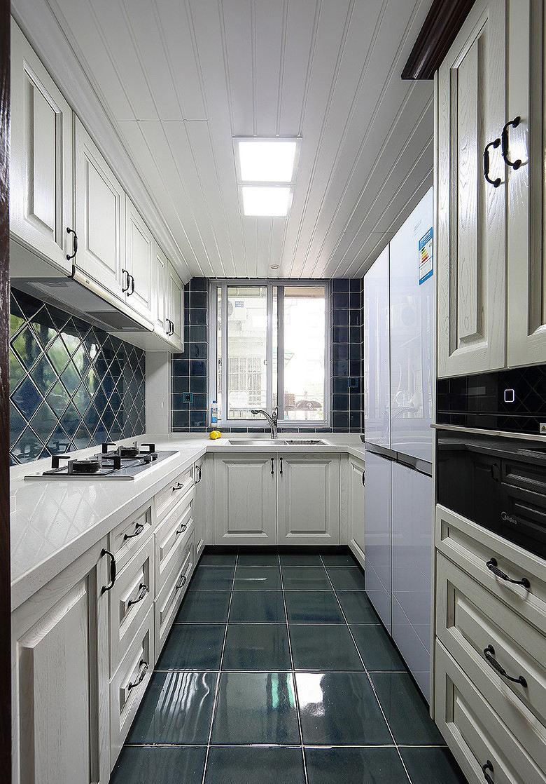 明亮清爽美式厨房效果图大全欣赏