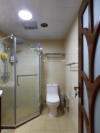现代简约设计卫生间干湿分区效果图