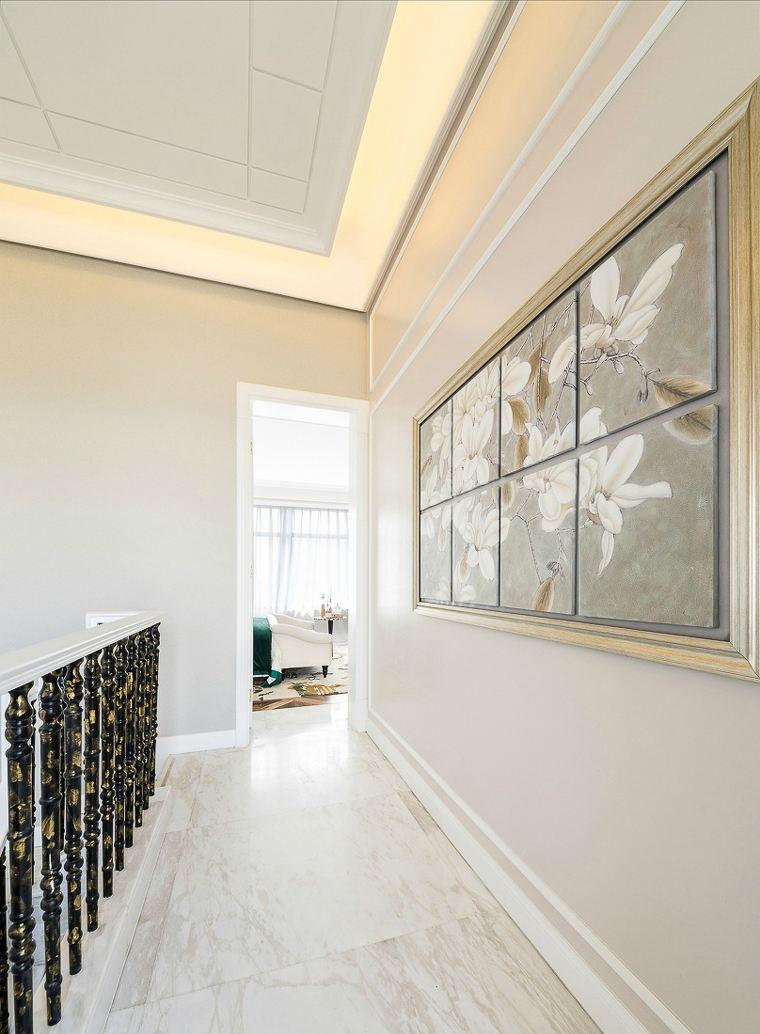 精美现代风别墅楼道走廊照片墙效果图片