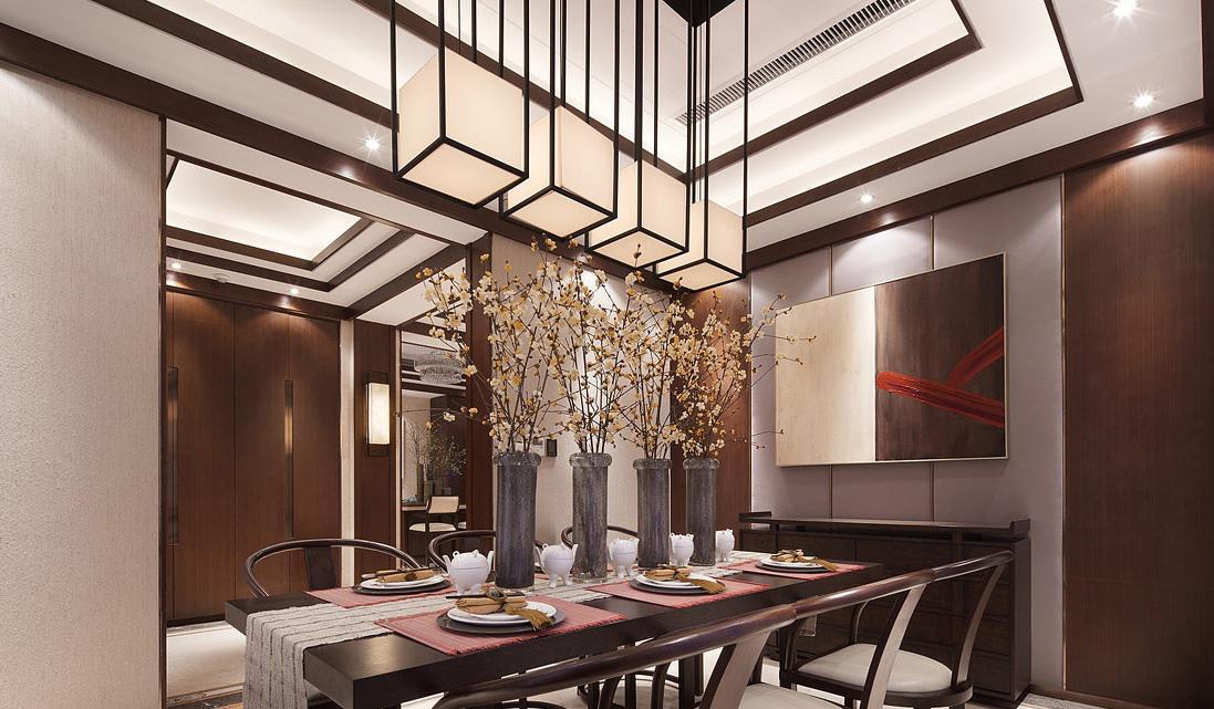 奢华新中式现代风格餐厅灯饰装饰