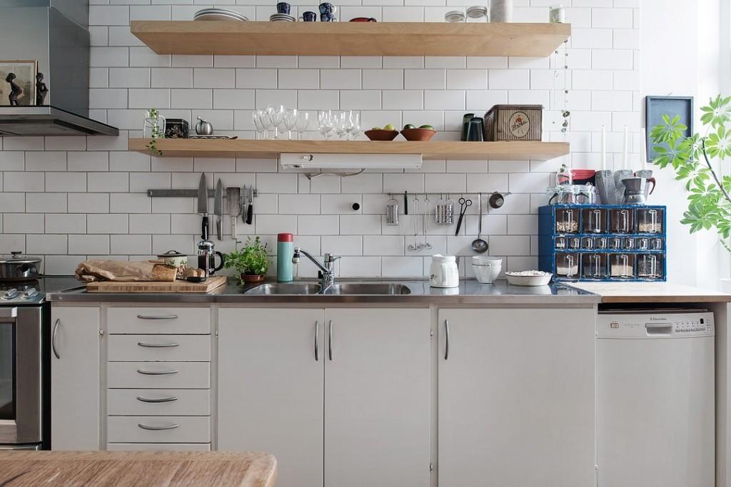宜家简约风格厨房多功能隔板效果图