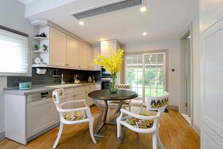 浪漫简约美式家居开放式厨房效果图