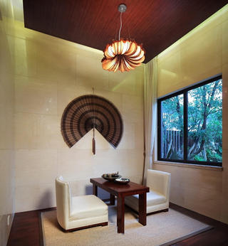 家居室内茶室禅意东南亚风格装饰效果图