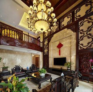 极具中国风明清古典中式风格别墅装饰效果图