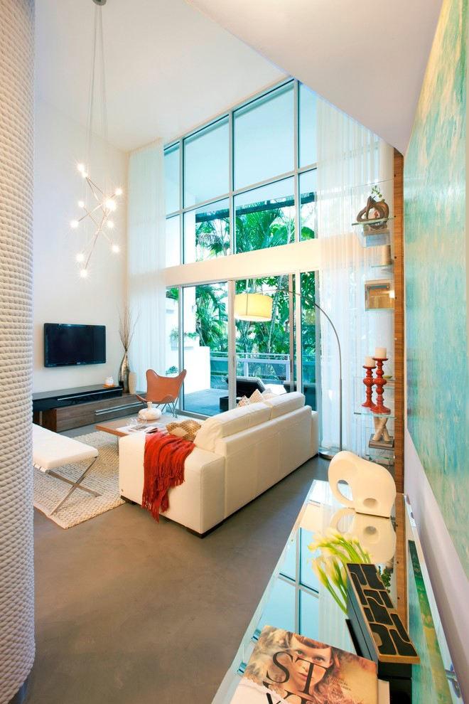 通透自然东南亚风格公寓跃层装潢案例图