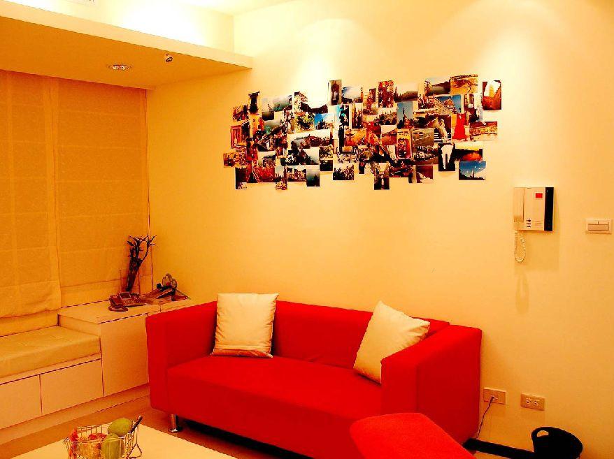 宜家现代客厅相片墙装饰效果图