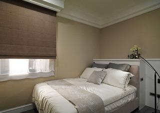 浅咖简约美式设计小卧室效果图
