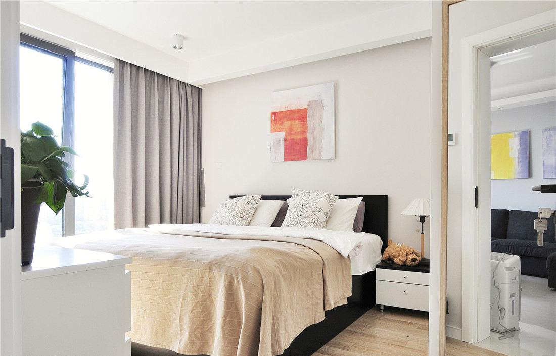 明亮简约现代风卧室装饰效果图大全