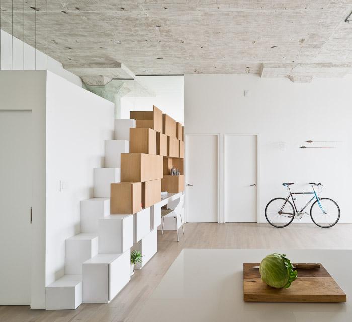 时尚个性现代空间感小跃层楼梯设计