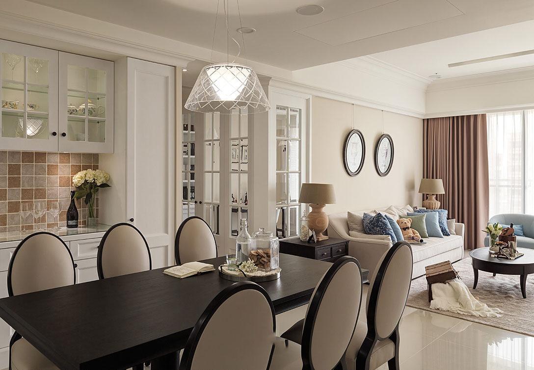 优雅精致美式装饰客餐厅图片效果图