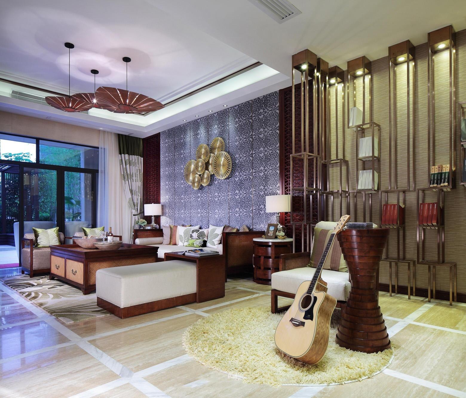 禅意自然东南亚风格家装客厅装修效果图