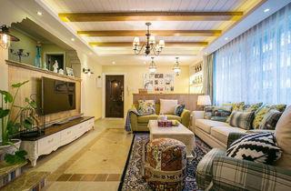 优雅复古田园风混搭客厅装饰大全