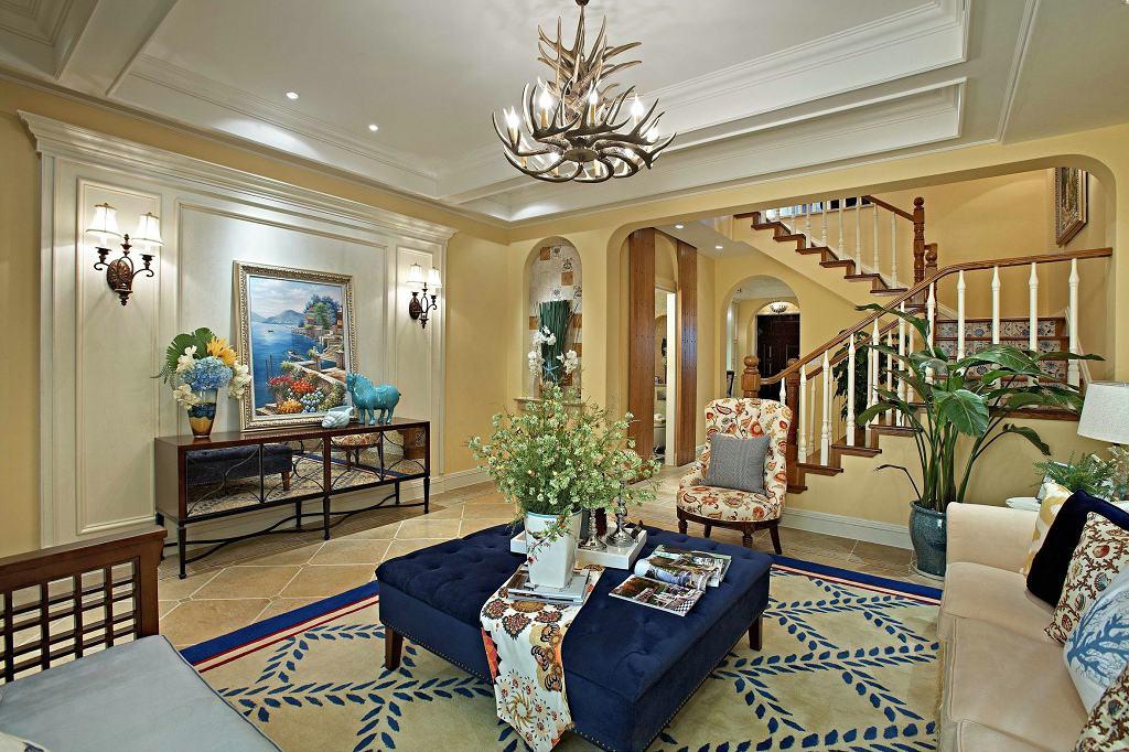 田园地中海装饰风格别墅客厅装修设计图