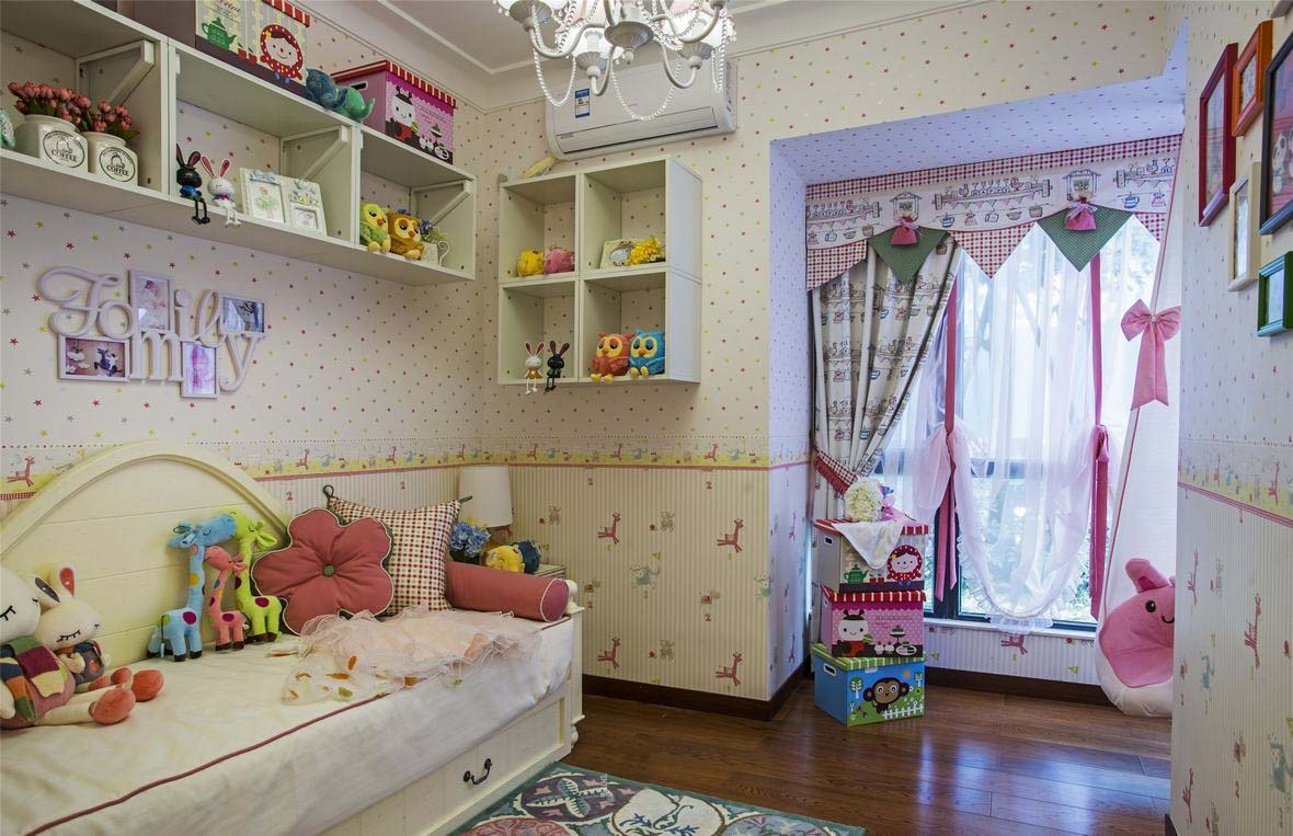 田园可爱儿童房设计装修效果欣赏图