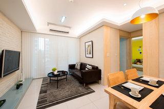 6万元打造65平米简约设计二室二厅装修案例图