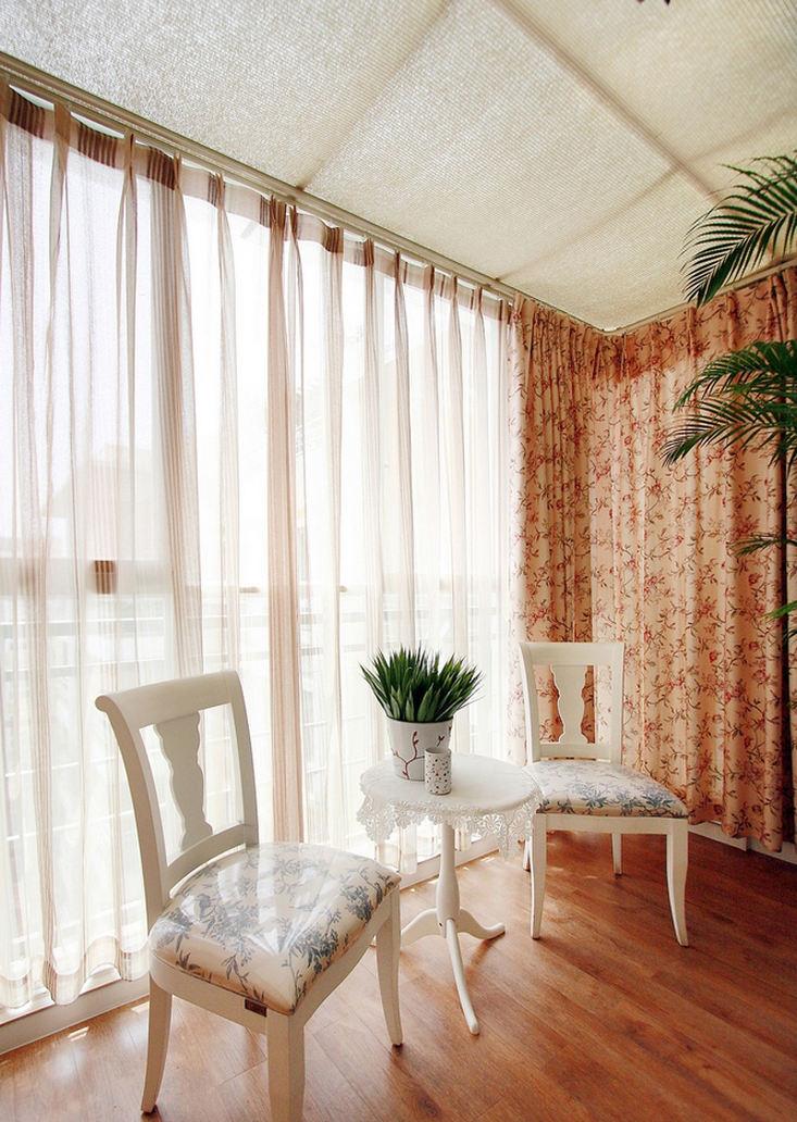 田园装饰风格家居室内窗帘装饰图
