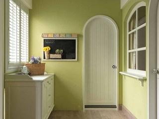 绿色清新田园风格入门玄关装潢图