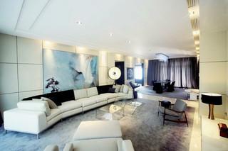 130平米三居室現代中式裝修圖