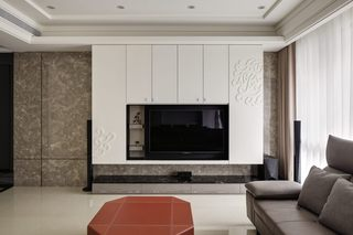 时尚简约现代电视背景墙设计