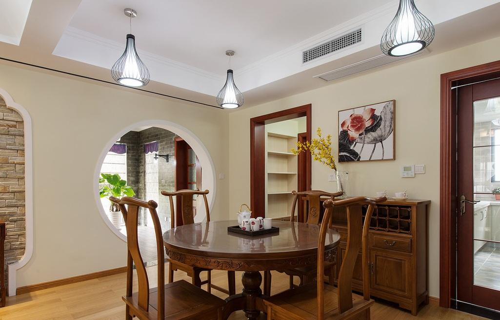 简约现代中式家装餐厅设计装修借鉴图
