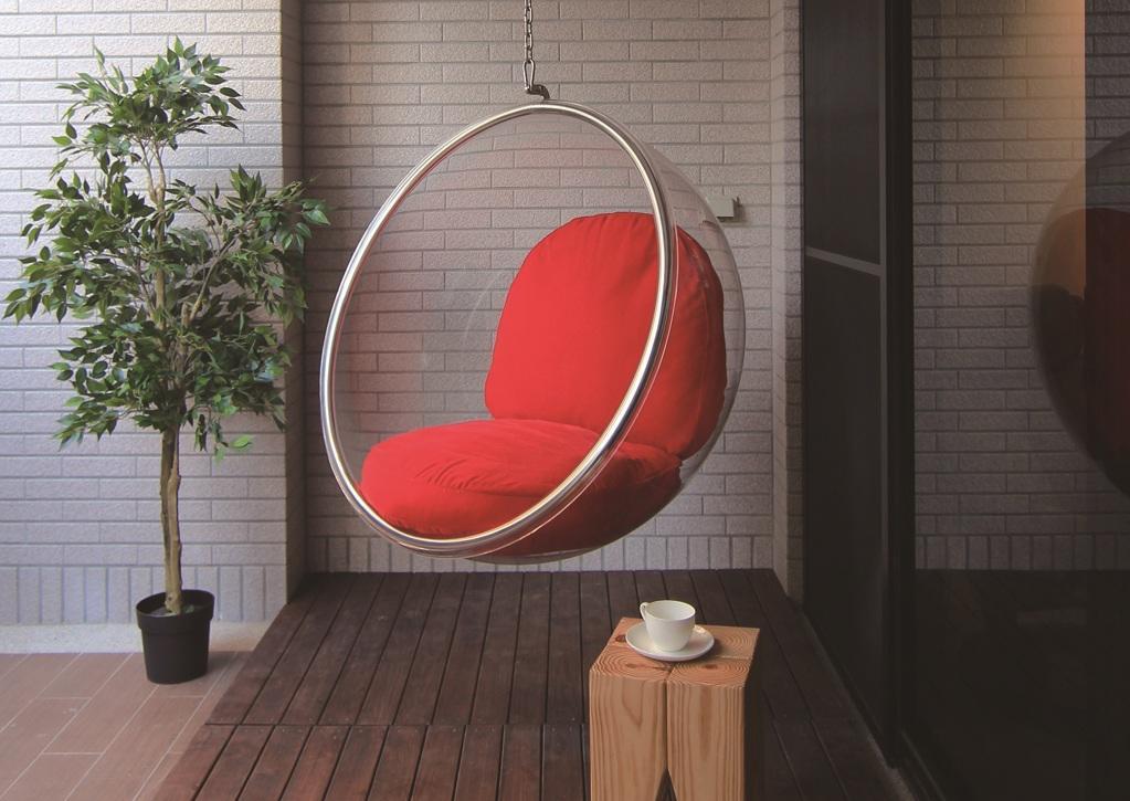 浪漫自然风现代阳台吊篮布置效果图