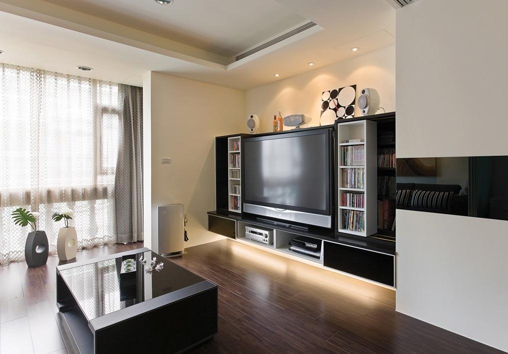 现代客厅电视收纳柜装饰效果图