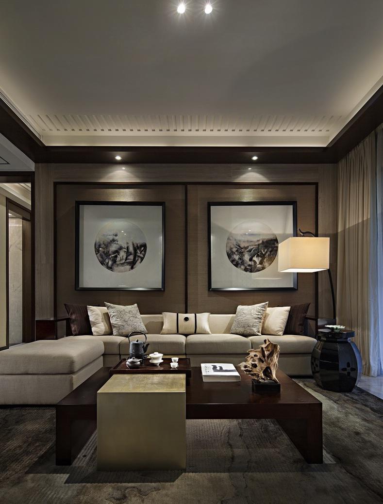 沉韵中式装修风格公寓家具装饰图