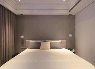 灰色系简约现代风卧室背景墙装饰